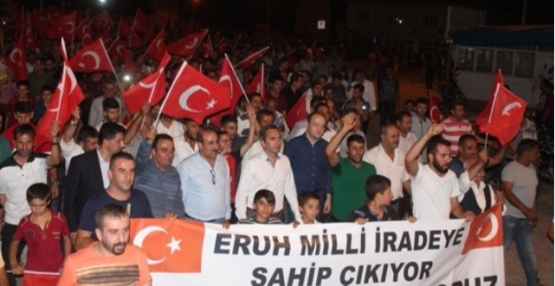 Eruh'ta, Darbe Girişimi Protesto Edildi