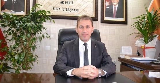 AK Parti İl Başkanı Çalapkulu'dan Regaip Kandili Mesajı