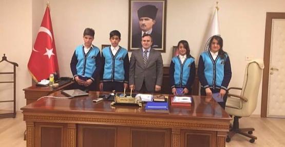 Öğrencilerden Belediye ye Destek