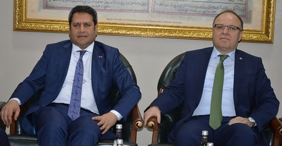 AB Bakan Yardımcısı Ali Şahin, Vali Tutulmaz'ı Ziyaret Etti
