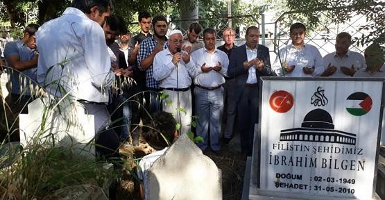 Filistin Şehidi İbrahim Bilgen Mezarı Başında Anıldı
