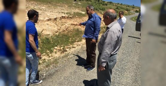 Genel Sekreter Canpolat, Köy Yollarını Denetledi