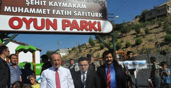 Şehit Kaymakam Muhammet Fatih Safitürk Oyun Parkının Açılışı Yapıldı