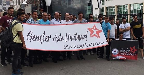 'Gençler Asla Unutmaz' Projesi Kapsamında Siirt'ten 40 Genç Ankara'ya Gitti
