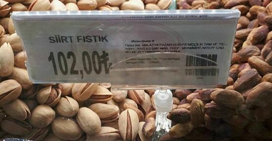 Siirt Fıstığı Malatya Pazarında 102 TL'den Satılıyor