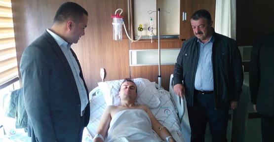 Kaymakam İnan ve Başkan Cellek Yaralı Askerleri Ziyaret Etti