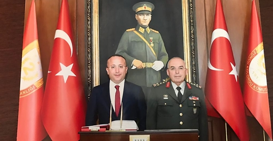 Vali Atik, 1. Ordu Komutanı Orgeneral Musa Avsever'i Ziyaret Etti