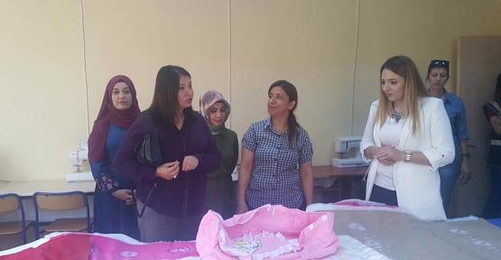 Vali Eşi Fulya Atik, Şirvan İlçesinde Ziyaretlerde Bulundu