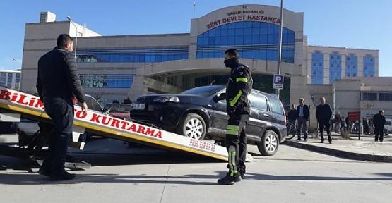 Devlet Hastanesi Engelli Araç Park Yerine Park Eden Araçlar Çekiciyle Kaldırılıyor