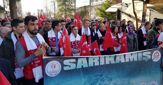"""""""Sarıkamış Şehitlerini Anma Yürüyüşü"""" Düzenlendi"""