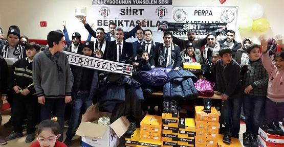 Siirt-Perpa Kartalları ve Beşiktaşlılar Derneğinden Türk Telekom İş Okuluna Yardım