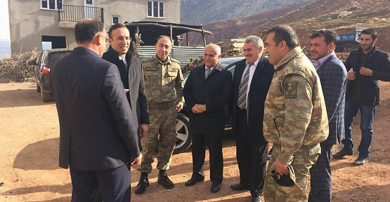 Tillo Kaymakamı Koç, Akyayla Köyü , Alkumru Jandarma Karakolu ve Alkumru Barajını Ziyaret Etti