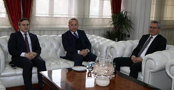 Vali Ali Fuat Atik, Batman Valisi Ahmet Deniz'i Ziyaret Etti