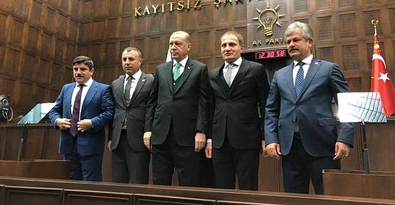 Aktay ve İlçe Belediye Başkanları, Cumhurbaşkanı İle Görüştü