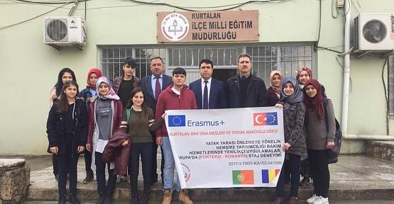 Kurtalanlı Lise Öğrencileri Avrupa'ya Uğurlandı