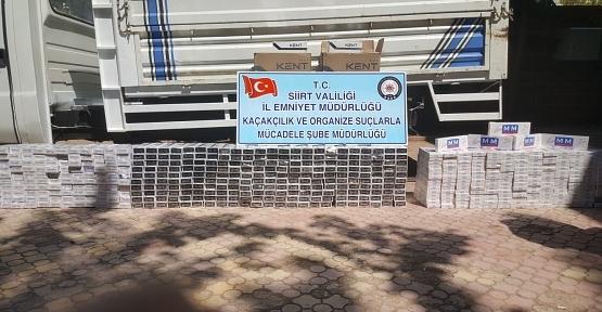 1.430 Paket Kaçak Sigara Ele Geçirildi
