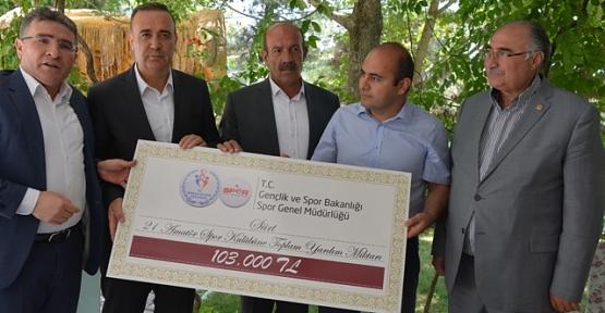 Amatör Spor Kulüplerine 103 Bin TL Yardım Yapıldı