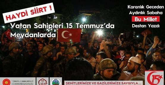 """""""15 Temmuz Demokrasi ve Milli Birlik Günü"""" Çeşitli Etkinliklerle Kutlanacak"""