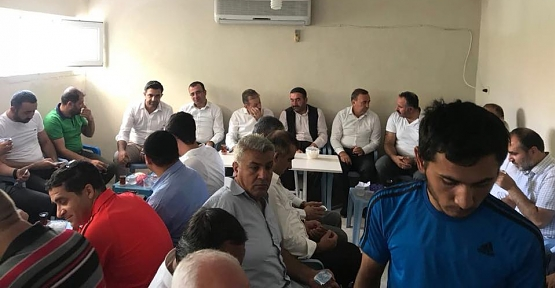 AK Parti Heyeti Elektrik Akımına Kapılan Korucunun Ailesine Taziye Ziyaretinde Bulundu