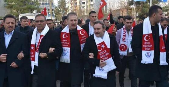Siirt'te Sarıkamış Şehitleri İçin Yürüyüş Yapıldı