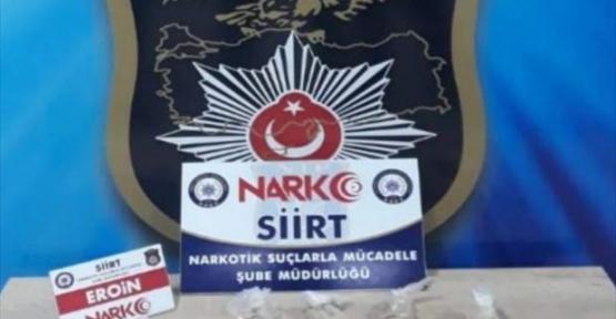 Siirt'in Baykan ilçesinde 840 gram eroin ele geçirildi