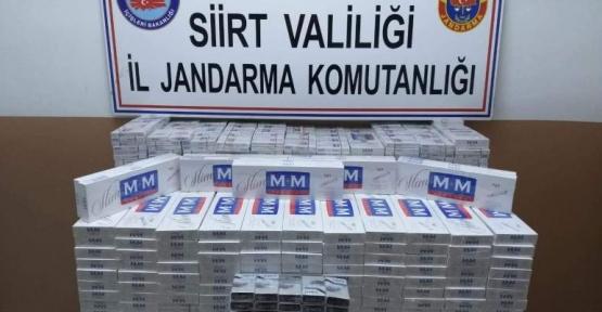 Siirt'te 3 Bin 830 Paket Kaçak Sigara Ele Geçirildi