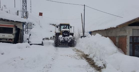Siirt'te 60 Köy Yolu Kardan Kapandı, Mahsur Kalan Aile Kurtarıldı