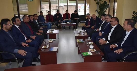AK Parti Belediye Başkan Adayı Ali İlbaş'tan Hüda-Par'a Ziyaret