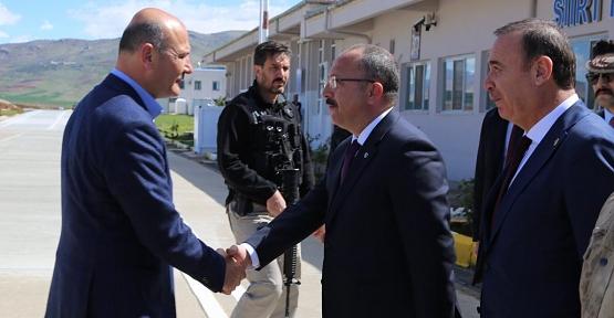 İçişleri Bakanı Süleyman Soylu Siirt'te