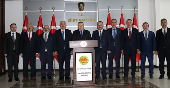 Yargıtay Başkanı İsmail Rüştü Cirit'ten Siirt Valiliğine Ziyaret