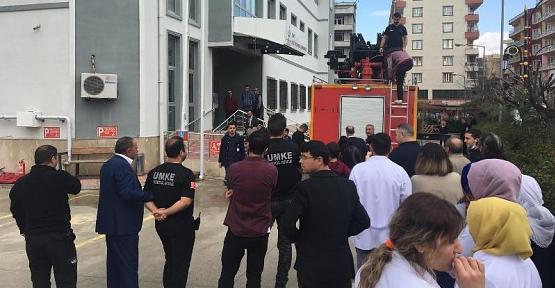 Ağız ve Diş Sağlığı Merkezinde Yangın Tatbikatı Yapıldı