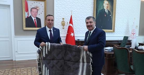 Osman Ören, Sağlık Bakanı Koca ve Gençlik Spor Bakanı Kasapoğlu'nu Ziyaret Etti