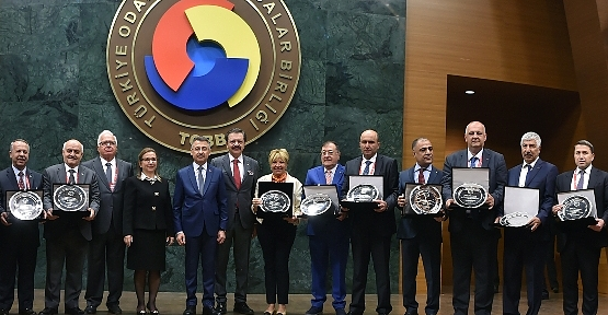 Siirt TSO Başkanı Güven Kuzu'ya Hizmet Şeref Ödülü Verildi