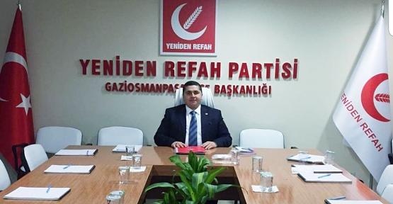 Yeniden Refah Partisi Gaziosmanpaşa İlçe Başkanlığına İş Adamı Hemşerimiz Tekin Karataş Atandı