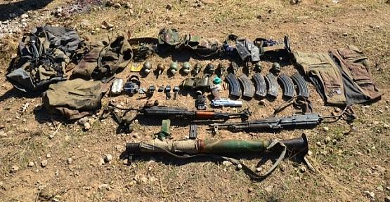 Etkisiz Hale Getirilen 2 PKK'lı Teröriste Ait Silah ve Mühimmat Ele Geçirildi