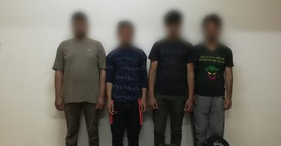 Afgan Uyruklu 4 Düzensiz Göçmen Yakalandı