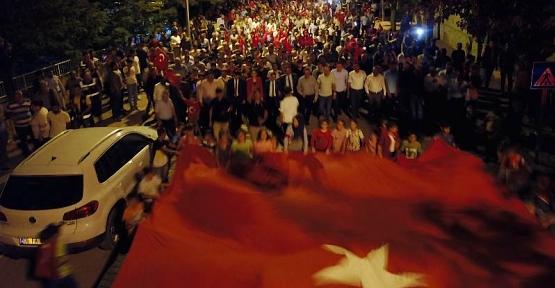 Şirvan'da 15 Temmuz Demokrasi ve Milli Birlik Günü Coskuyla Kutlandı
