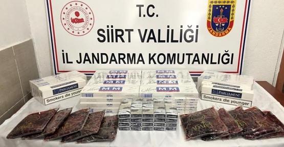 510 Paket Kaçak Sigara İle 10 Kg. Kaçak Nargile Tütünü Ele Geçirildi