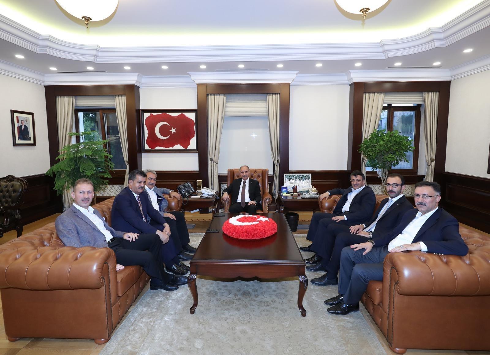 AK Parti İl Başkanı Çalapkulu,Emniyet Genel Müdürü Mehmet Aktaş'ı Ziyaret Etti
