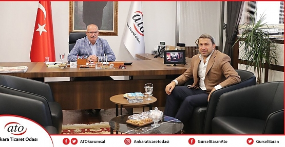 Siirt TSO Başkanı Güven Kuzu, ATO Başkanı Gürsel Baran'ı Ziyaret Etti