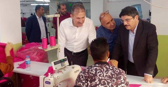 AK Parti İl Başkanı Çalapkulu ve Aktay, Ninova Tekstili Ziyaret Etti