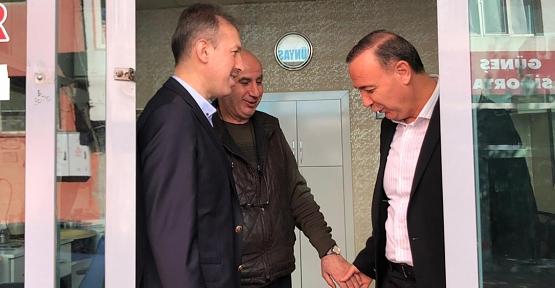AK Parti Milletvekili Ören ve İl Başkanı Çalapkulu Esnaf Ziyaretlerinde
