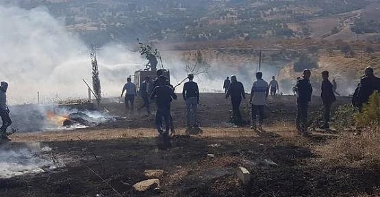 Atabağı Beldesinde Çıkan Yangın İtfaiye Ekipleri ve Vatandaşların Seferber Olmasıyla Kısa Sürede Kontrol Altına Alındı