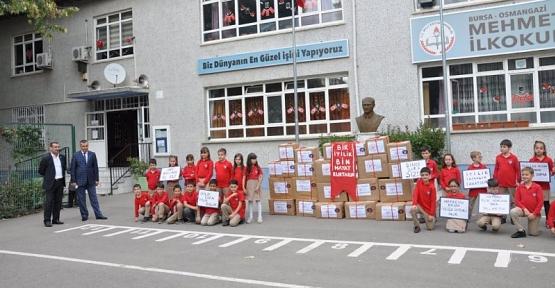Osmangazi Mehmet Aker İlkokulu Öğrencilerinden Siirt Şehit Öğretmen Durmuş Güçlü İlkokulu'na Anlamlı Yardım