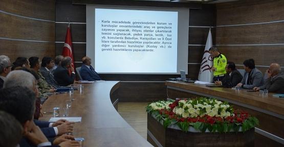 Siirt'te Kışa Hazırlık Toplantısı Yapıldı