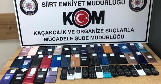 49 Adet Kaçak Telefon ve 870 Paket Kaçak Sigara Ele Geçirildi