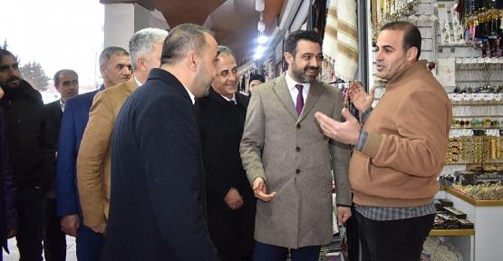 AK Parti İl Başkanı Olgaç, Veysel Karani'de Esnaf Ziyaret Etti