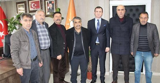 AK Parti Kurtalan İlçe Başkanı Haşim Karaatay'a Ziyaretçi Akını