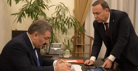 AK Parti Milletvekili Osman Ören, Sağlık Bakanı Dr. Fahrettin Koca ile Görüştü