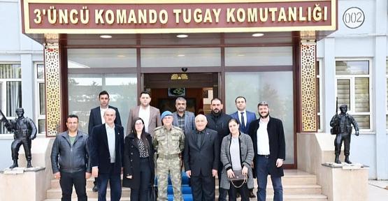 STK'lardan 3.Komando Tugayına Taziye Ziyareti